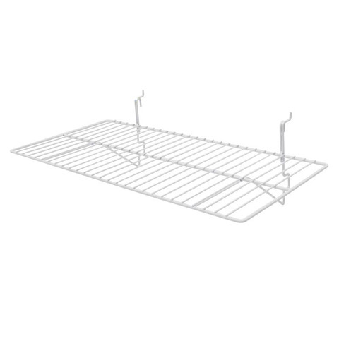 Gridwall Wire Shelf 12in x 24in - White