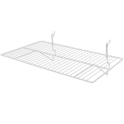 Gridwall Wire Shelf 14In x 24in - White