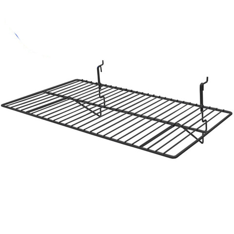 Gridwall Wire Shelf 14In x 24in - Black