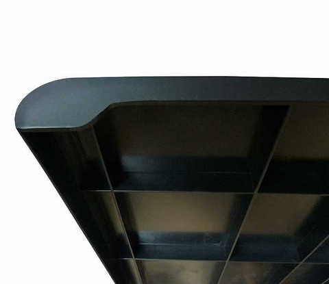 "Plastic Bullnose Shelves 13"" x 24"" 
