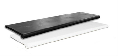 "13"" x 48"" Plastic Bullnose Shelves 