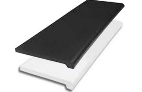"Plastic Bullnose Shelves 13"" x 48"" 
