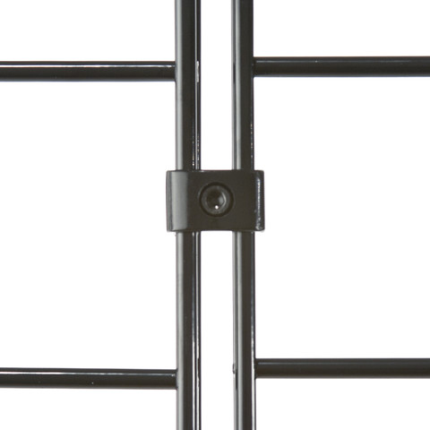 Gridwall Deluxe Connectors | Black, White or Chrome