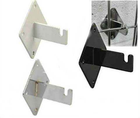 Gridwall Wall Mount Brackets | Black, White or Chrome