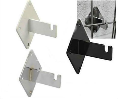 Gridwall Wall Mount Brackets | Black, White or Chrome