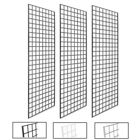 2' X 6' Gridwall Panels | Black, White or Chrome