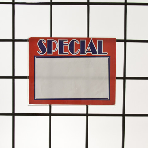 "Grid | Gridwall Acrylic Sign Holder 5.5""H X 7""W - Horizontal"