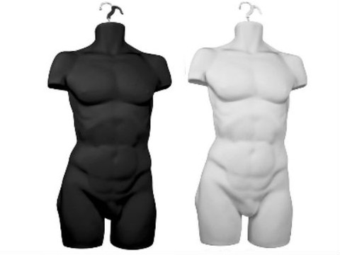 Male Body Form | Full Torso | Product Display Solution