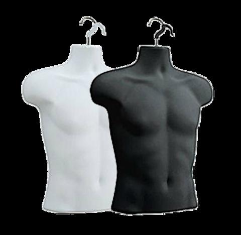 Male Upper Torso Hanging Form | Black or White