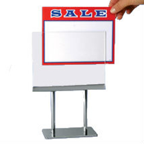 """7""""H x 11""""W  Counter Twin Stem Metal Sign Holder 