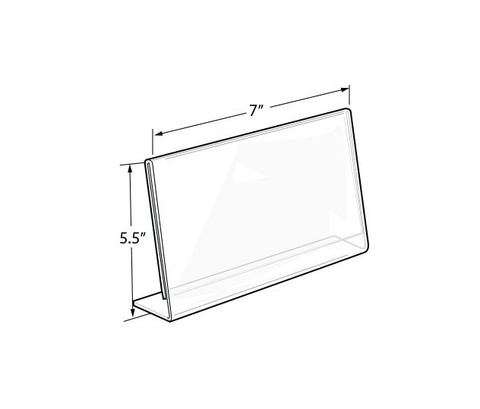"5.5""H x 7""W Acrylic Countertop Sign Holder 
