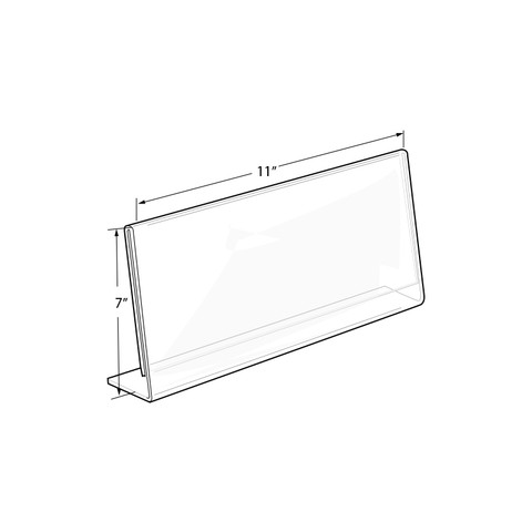 "7""H x 11""W Acrylic Countertop Sign Holder 