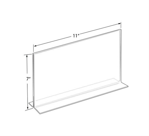 "7""H x 11""W Double Sided Acrylic Countertop Sign Holder 