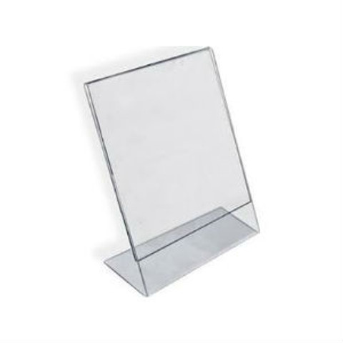 "7""H x 5.5""W Acrylic Tabletop Sign Holder 