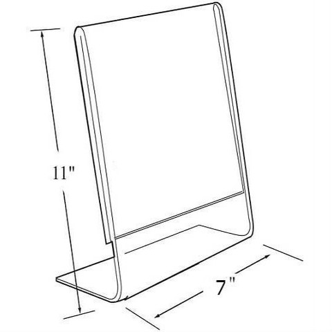 """11""""H x 7""""W Acrylic Tabletop Sign Holder 