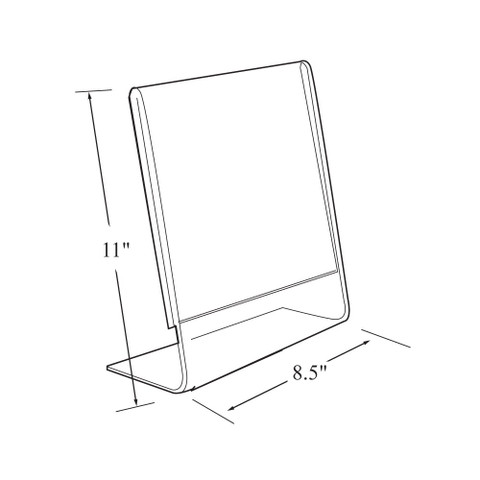 "11""H x 8.5""W Acrylic Tabletop Sign Holder 