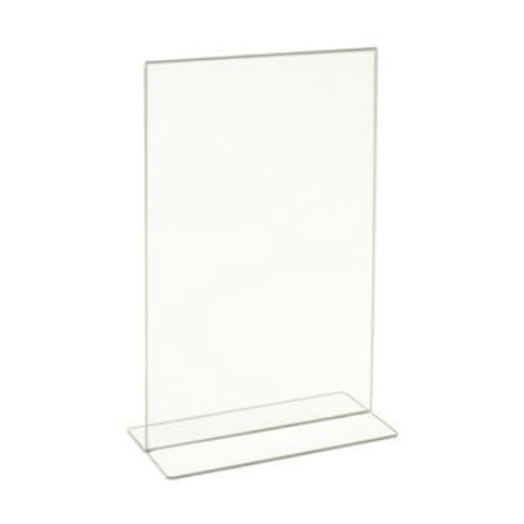 """11""""H x 7""""W Double Sided Clear Countertop Sign Holder 
