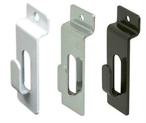 Slatwall Notch Picture Hook | Black, White Or Chrome