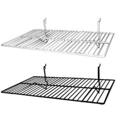 """14"""" x 24"""" Flat Slatwall Wire Shelves 