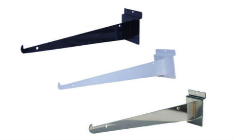 "10"" Slatwall Shelf Brackets | Product Display Solutions"