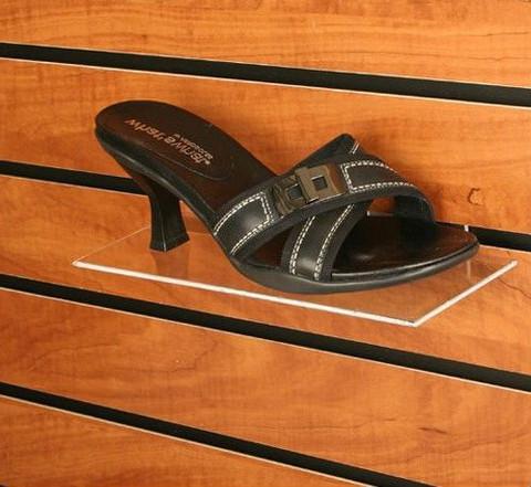 "Slatwall Acrylic Shoe Shelf 4""D X 10""L"