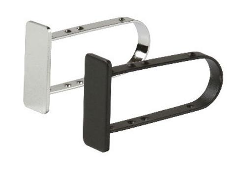 End Cap for Rectangular Hangrail Tubing | Black or Chrome