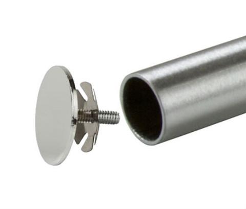 "End Cap for 1"" Diameter Round Hangrail Tubing | Chrome"