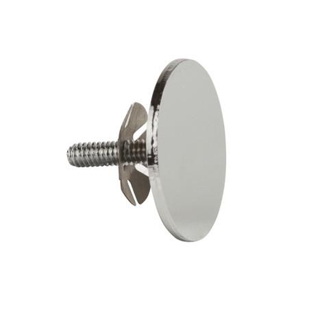 End Cap for 1.25'' Diameter Round Hangrail Tubing   Chrome