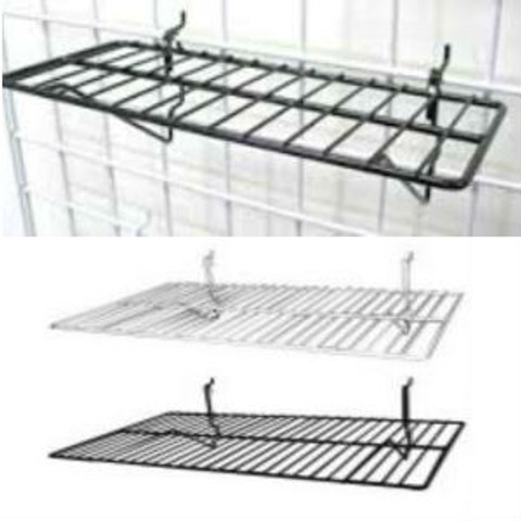 "Gridwall Flat Shelf 14"" x 6"" 