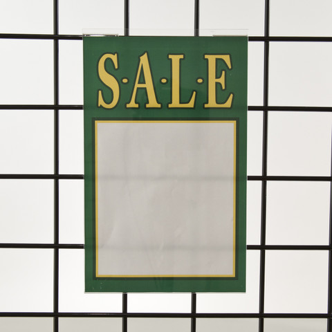 "Grid | Gridwall Acrylic Sign Holder 11""H X 7""W 