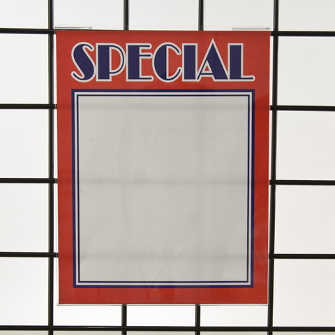 "Grid  Gridwall Acrylic Sign Holder 11""H X 8.5""W 