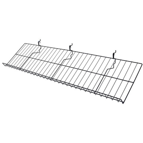 12in x 46in Slanted Shelf For Gridwall - Black
