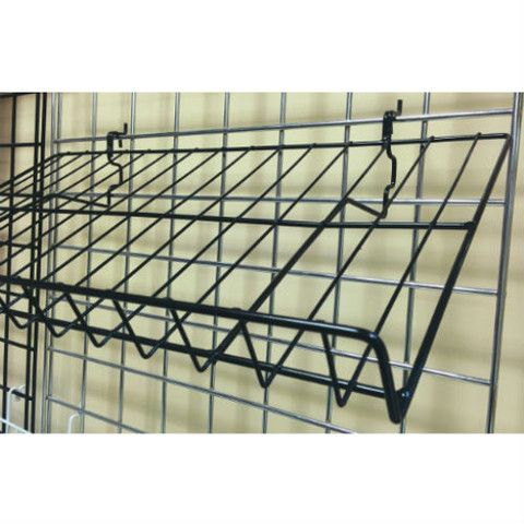 "Gridwall Slanted Shelf 12"" x 23"" 