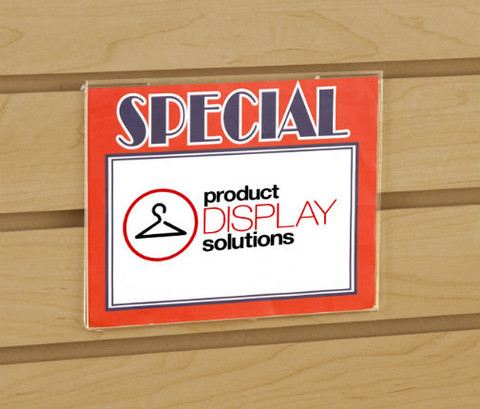 "5.5""H x 7""W Slatwall Acrylic Sign Holder"