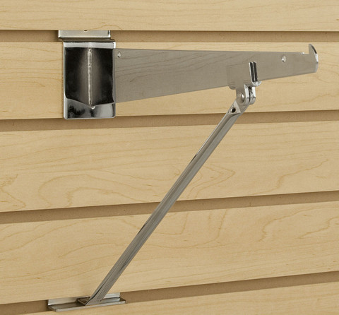 "Slatwall Support Arm for 10"" to 16"" Shelf Brackets"