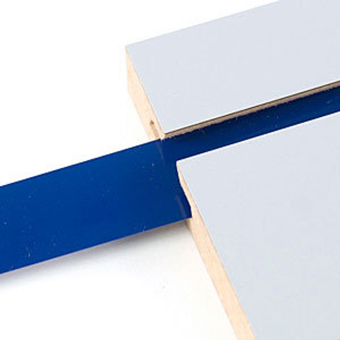 "Decorative Slatwall Vinyl Insert | BLUE 128'L Roll x 1 1/4"" Height"