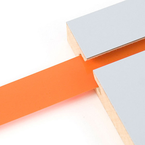 "Decorative Slatwall Vinyl Inserts | ORANGE 128'L Roll x 1 1/4"" Height"
