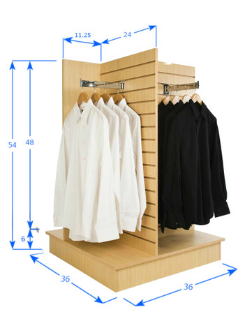 4 Sided Slatwall Display Stand
