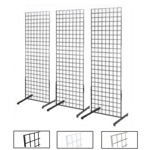Gridwall Two Sided Free Standing Display Fixtures