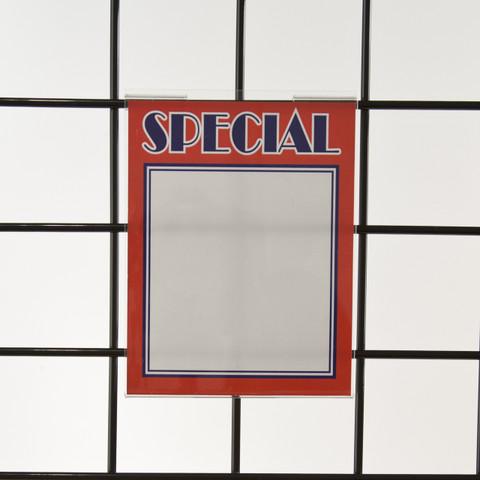 "Grid | Gridwall Acrylic Sign Holder 7""H x 5.5""W - Vertical"