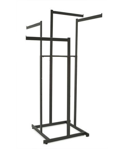 "Hi-Capacity 4 Way Rack With (4) 22"" Long Straight Display Arms 
