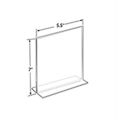 """7""""H x 5.5""""W Double Sided Clear Countertop Sign Holder 