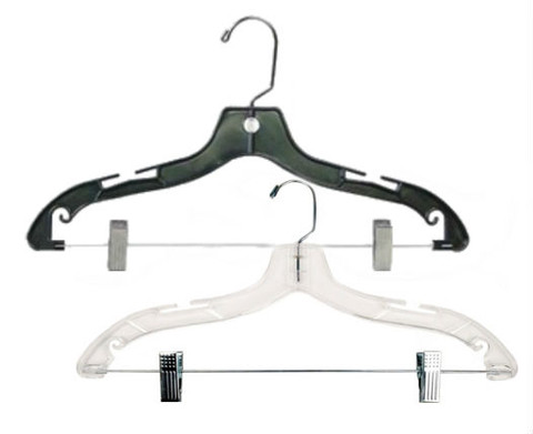 "17"" Plastic Suit Hanger with Swivel Hook 