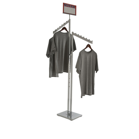 Double Sided Clothing Rack With Slanted Arms