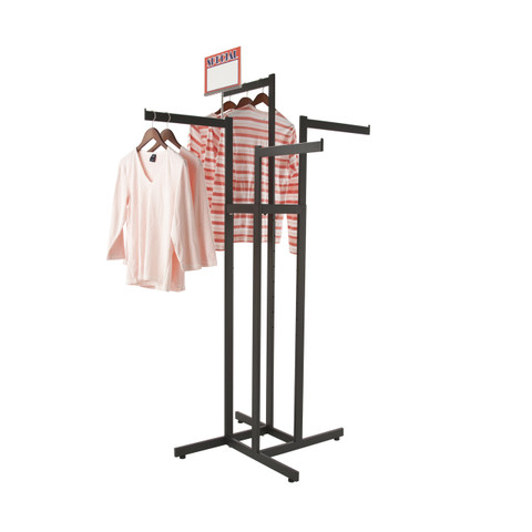 "Heavy Duty 4 Way Racks With (4) Straight 16""L Display Arms 