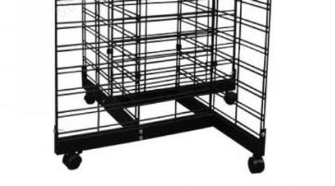 Slatgrid 4 Way Base w/Casters | Black, White or Chrome