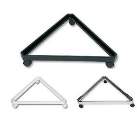 Slatgrid Triangle Base w/Casters | Black, White or Chrome