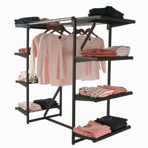 Double Rial H rack with EIGHT Shelves