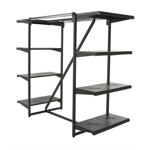 Double Hangrail & Eight Shelves Combination Clothing Rack