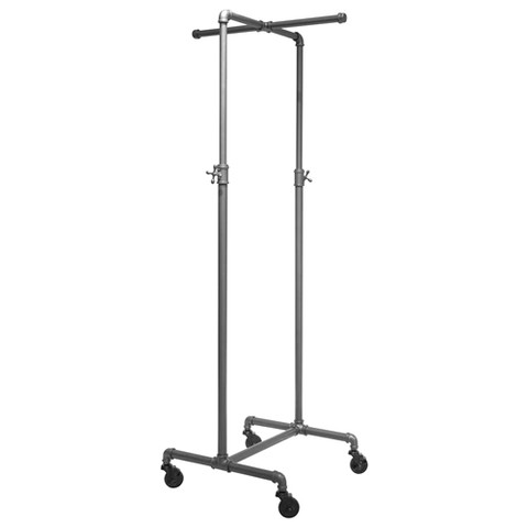 2 Way Adjustable Height Pipe Clothing Rack